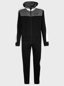 EA7 Emporio Armani Panel Full 2 Piece Tracksuit - Black