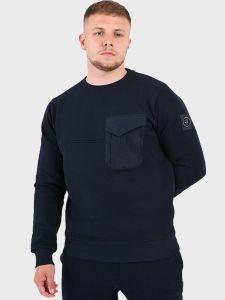 Marshall Artist Acier Crew Neck Sweatshirt - Navy