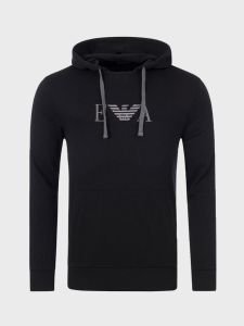 Emporio Armani Hooded Sweatshirt - Black