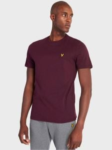 Lyle & Scott Plain T-Shirt - Burgundy