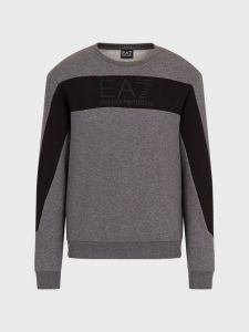 EA7 Emporio Armani Panel Logo Sweatshirt - Dark Grey Mel