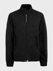 Pretty Green Derwent Cotton Harrington Jacket - Black
