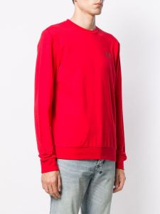 EA7 Emporio Armani Mens Core ID Logo Sweatshirt - Racing Red