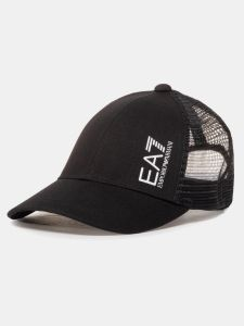 EA7 Emporio Armani ID Train Core Logo Mens Baseball Cap Hat - Black