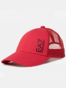 EA7 Emporio Armani ID Train Core Logo Mens Baseball Cap - Poppy Red