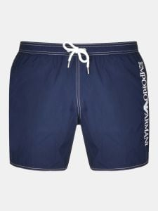 Emporio Armani Embroidered Logo Swim Shorts - Navy Blue