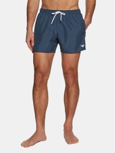 Emporio Armani Mens Eagle Logo Swim Shorts - Navy Blue