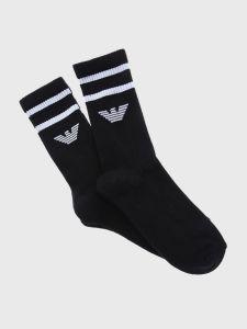Emporio Armani Calza Tennis 2 Pack Socks Set - Black