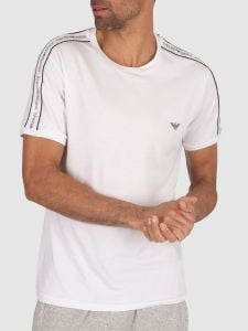 Emporio Armani Tape Crew Neck T Shirt - White
