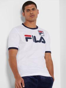 Fila Flat Matt Print T-Shirt - White