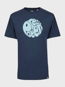 Pretty Green Mens Gillespie Logo Print T-Shirt - Navy