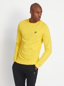 Lyle & Scott Mens Crew Neck Sweatshirt - Buttercup Yellow