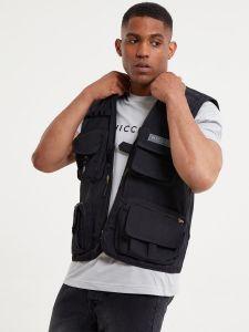 Nicce Festival Utility Vest - Black