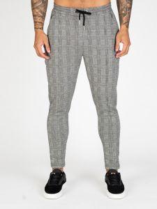 Nimes Knit Chino Check Pants - Grey