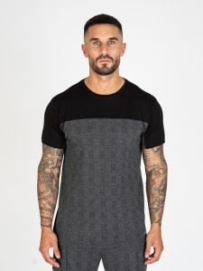 Nimes Panel T-Shirt - Black Check