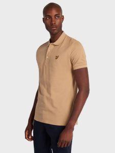 Lyle & Scott Plain Polo Shirt - Sand Storm