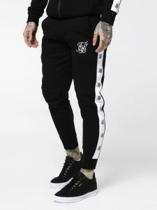 Sik Silk Muscle Fit Logo Jogger - Black
