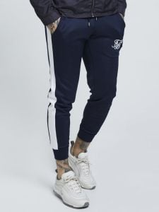 SikSilk Cuffed Pants - Navy