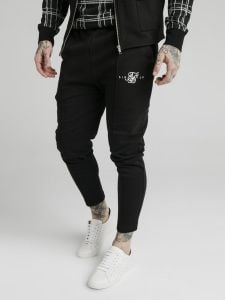 SikSilk Smart Pleated Jogger Pants - Black