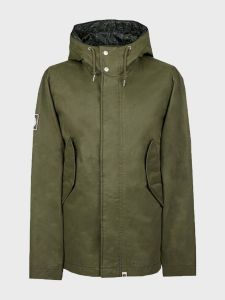 Pretty Green Cotton Zip Up Hooded Jacket - Green