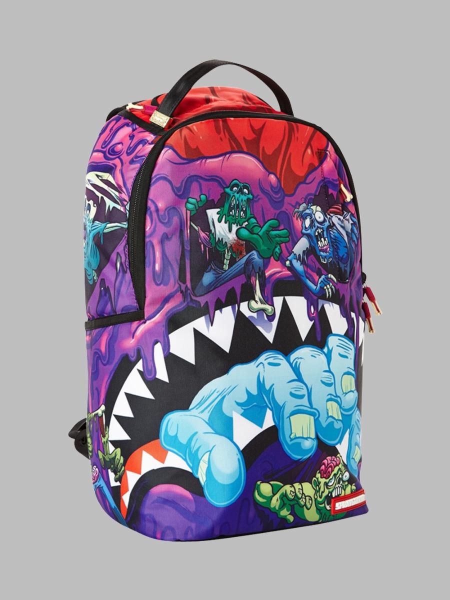 Sprayground Zombies Backpack Purple Spiralseven